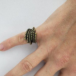 Lia Sophia Bronze Textured Ring Size 5